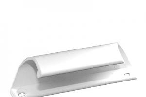 Ручка притвор балконная железная белая
