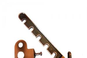 Гребенка ограничитель открывания окон коричневая окрашенная желзная