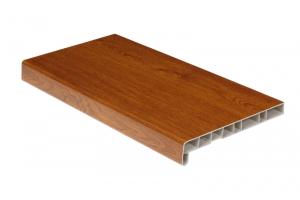Подоконники пластиковые пвх «Витраж» золотой дуб 450 мм цена 585 руб.  за пог. м купить со скидкой