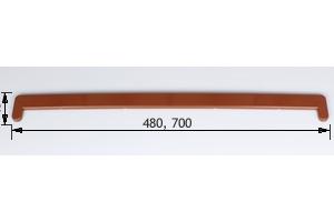Заглушка подоконника пвх «Витраж» золотой дуб оригинальная цена 120 руб.  за шт купить со скидкой