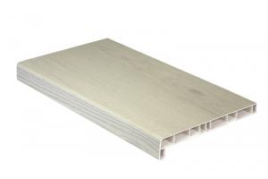 Подоконники пластиковые пвх «Витраж» белый дуб 700 мм (2 капиноса) цена 910 руб. за пог. м купить со скидкой
