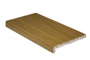 Подоконники пластиковые пвх «Витраж» натуральный дуб 300 мм цена 390 руб. за пог. м купить со скидкой