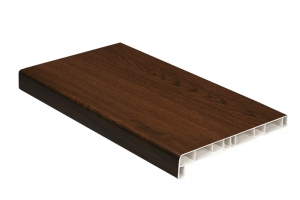 Подоконники пластиковые пвх «Витраж» орех 250 мм цена 325 руб. за пог. м купить со скидкой