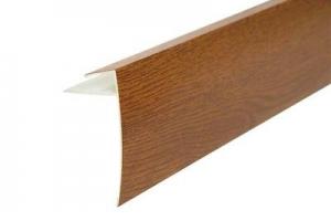 F-профиль 45 мм ламинированный для откоса цвет золотой дуб цена 220 руб.  за шт купить со скидкой