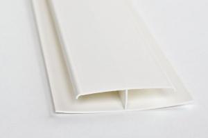 H-образный профиль (стык) для монтажа панелей ПВХ цена 40 руб.  за шт купить со скидкой