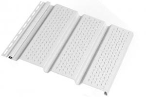 Аксессуары к сайдингу (белые) Софит перфорированный S=0,93 m2 цена 255 руб.  за шт купить со скидкой