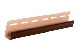 Аксессуары к сайдингу (коричневые) J-профиль цена 165 руб.  за шт купить со скидкой