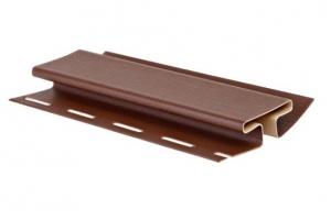 Аксессуары к сайдингу (коричневые) H-профиль (соединитель) цена 345 руб.  за шт купить со скидкой