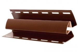 Аксессуары к сайдингу (коричневые) внутренний угол