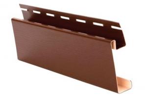 Аксессуары к сайдингу (коричневые) наличник ( J широкий) цена 345 руб.  за шт купить со скидкой