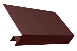 Аксессуары к сайдингу (коричневые) - околооконный профиль цена 365 руб.  за шт купить со скидкой