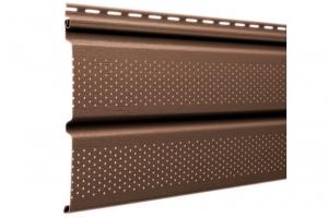 Аксессуары к сайдингу (коричневые) Софит перфорированный S=0,93 m2