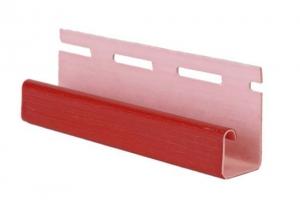 Аксессуары к сайдингу (красный, дуб светлый) J-профиль цена 208 руб.  за шт купить со скидкой