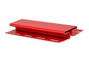 Аксессуары к сайдингу (красный, дуб светлый) H-профиль (соединитель)