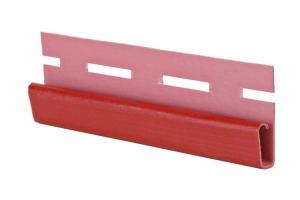Аксессуары к сайдингу (красный, дуб светлый) завершающий профиль (финиш)