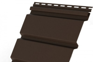 Софит виниловый Grand Line полная перфорация (коричневый)