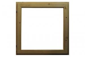 Окно деревянное ОСУ 135x135 без стекла