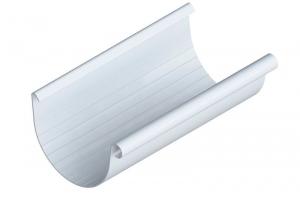 Желоб водосточный белый 3,0 м и 4,0 м цена 145 руб.  за шт купить со скидкой