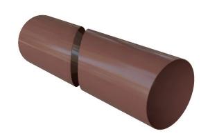 Труба водосточная коричневая 3,0 м и 4,0 м цена 135 руб.  за пог. м купить со скидкой