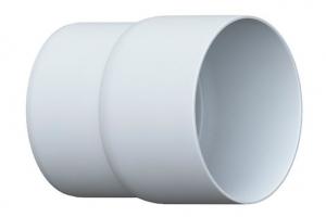 Муфта трубы белая цена 75 руб.  за шт купить со скидкой